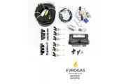 Комплект STAG-6 QMAX BASIC, ред. Antartic 340 л.с., форс. Hana Rail, МН, штуцера, ф 1-2