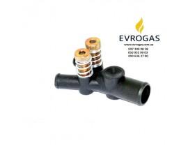 Дозатор газа OML 19x12x12 мм с двумя регулировочными винтами