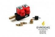 Газовые форсунки Valtek 2 цилиндра 3 Ом (30.EVG.51)